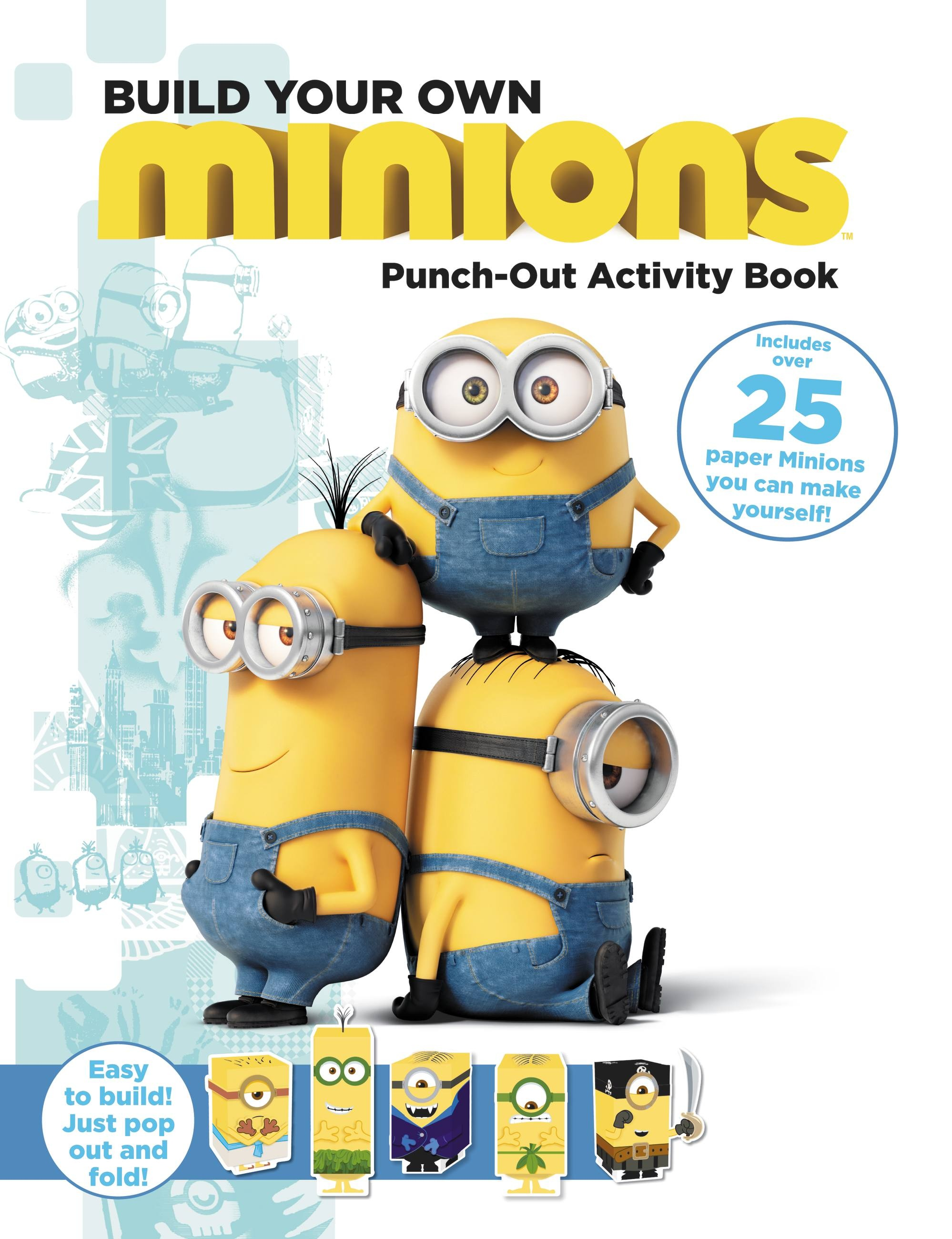 Diy Minion Book Cover ~ Minions build your own punch out activity book